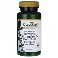 Turmeric, Astragalus & Gotu Kola Complex 60 caps Full Spectrum - Swanson