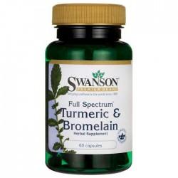 Turmeric & Bromelain 60 caps Full Spectrum - Swanson