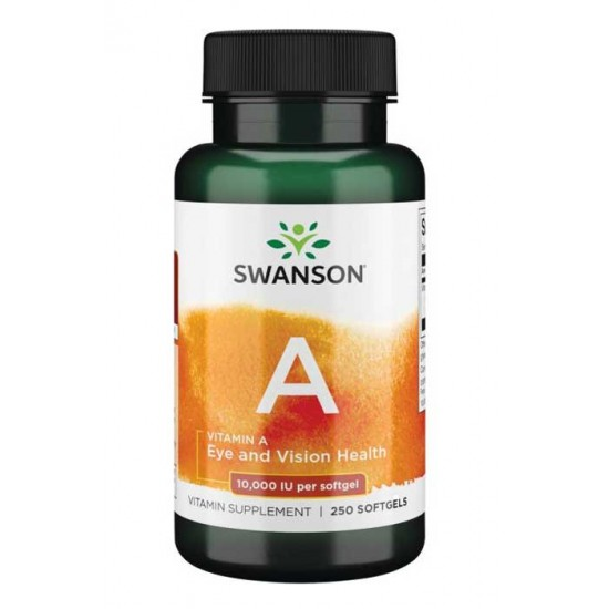 Vitamin A 10.000iu 250 softgels - Swanson