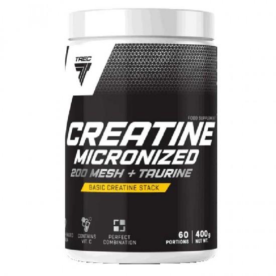Creatine Micronized 200 Mesh + Taurine 400g - Trec Nutrition