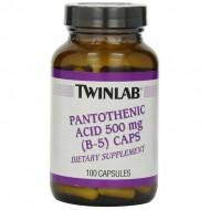 Pantothenic Acid (B-5) Caps 500mg 100 caps - Twinlab