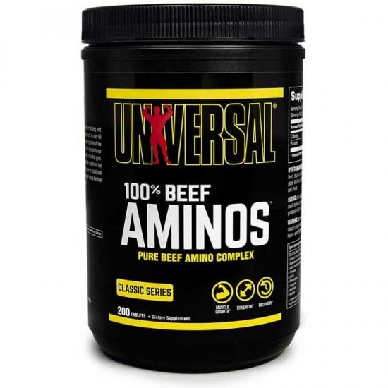 100% Beef Aminos 200 ταμπλέτες - Universal Nutrition / Αμινοξέα