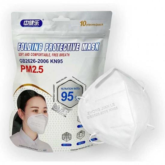 KN95 FFP2 Μάσκα Υψηλής Προστασίας 10τμχ - Zhong Jian Le